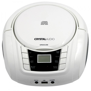 Crystal Audio Boombox BMBU2W Λευκό CD Ραδιόφωνο